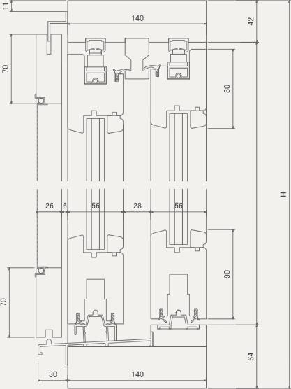 HS-2 断面図