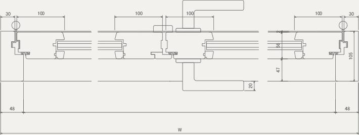 D-W 平面図